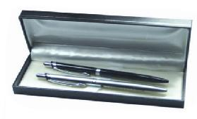 Black and Silver Ballpoint Pen Gift Set