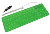 USB Waterproof Foldable Keyboard 104 keys