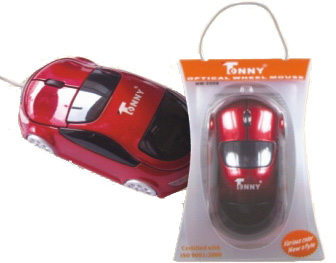 TONNY USB Optical Mouse (Red)