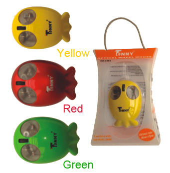 TONNY USB Optical Mouse (Yellow)